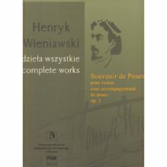 Souvenir de Posen for Violin with Piano Accompaniment Op. 3