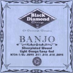 Black Diamond Silverplated Folk/Banjo Strings