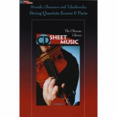 String Quartets Scores & Parts CD-ROM: Dvorak, Glazunov and Tchikovsky