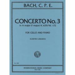 Concerto No. 3 in A Major (F Major) H.439/W.172 (Cello and Piano)