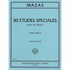 30 Etudes Speciales, Op. 36 for Viola