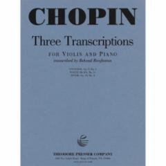 Three Transcriptions for Violin and Piano