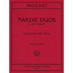 Twelve Duets, K. 487 for Violin and Viola
