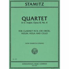 Quartet in Eb Major, Op. 8, No. 4 for Clarinet (or Oboe), Violin, Viola and Cello
