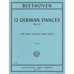 12 German Dances: WoO 8 for Two Violins and Viola