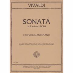 Concerto in E Minor for Viola and Piano