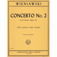 Concerto No.2 in D Minor, Op.22 (Violin and Piano)