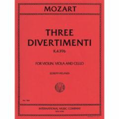 Three Divertimenti (K.439b) for Violin, Viola and Cello