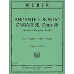 Andante and Hungarian Rondo, Op.35 (Viola)