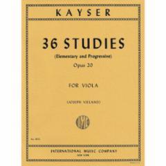 36 Studies, Op.20 for Viola