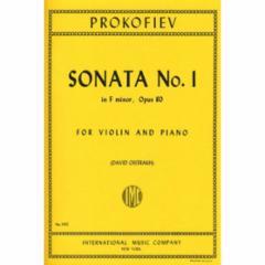 Sonata No. 1 in F minor, Op. 80 for Violin and Piano