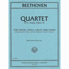 Quartet in Eb Major, Op. 16 for Violin, Viola, Cello and Piano