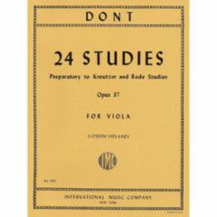 24 Studies (Preparatory to Kreutzer and Rode Studies), Op. 37