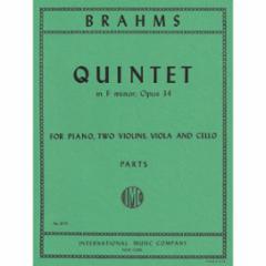 Quintet in F minor, Op. 34 (Piano, Two Violins, Viola and Cello)