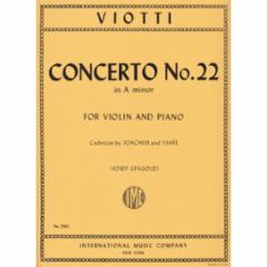 Concerto No.22 in A Minor for Violin and Piano