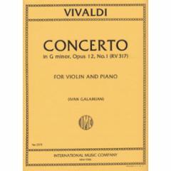 Concerto in G Minor, F.I, No.211 for Violin