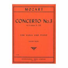 Violin Concerto No.3 in G Major, K.216 for Viola and Piano