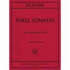Three Sonatas, Opp. 78, 100 and 108 (Violin and Piano)