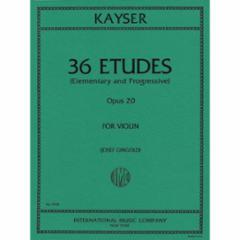 36 Studies, Op.20 for Violin