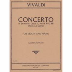 Concerto in D Minor, Op.9, No.8, RV 238 (from La Cetra) for Violin and Piano