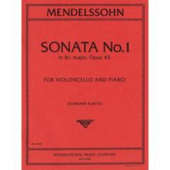 Sonata No.1 in Bb Major, Op.45 for Cello and Piano
