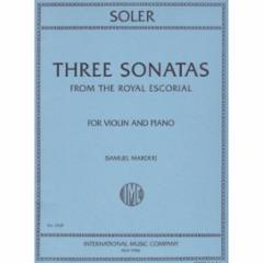 Three Sonatas from the Royal Escorial (Violin)