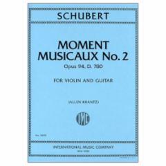 Moment Musicaux No. 2, Op. 94, D.780 (Violin and Guitar)