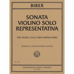 Sonata Violino Solo Representativa for Violin and Basso Continuo
