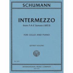 Intermezzo from F-A-E Sonata (1853) for Cello and Piano