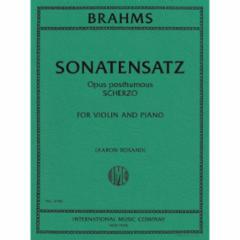 Sonatensatz (Scherzo) Op. Posth. for Violin and Piano (Rosand)