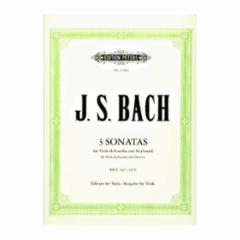 Three Viola da Gamba Sonatas (Viola and Piano)