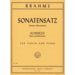 Sonatensatz (Scherzo) (Op. posth.) for Violin