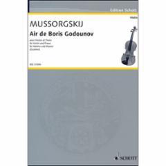Air de Boris Godounov for Violin and Piano