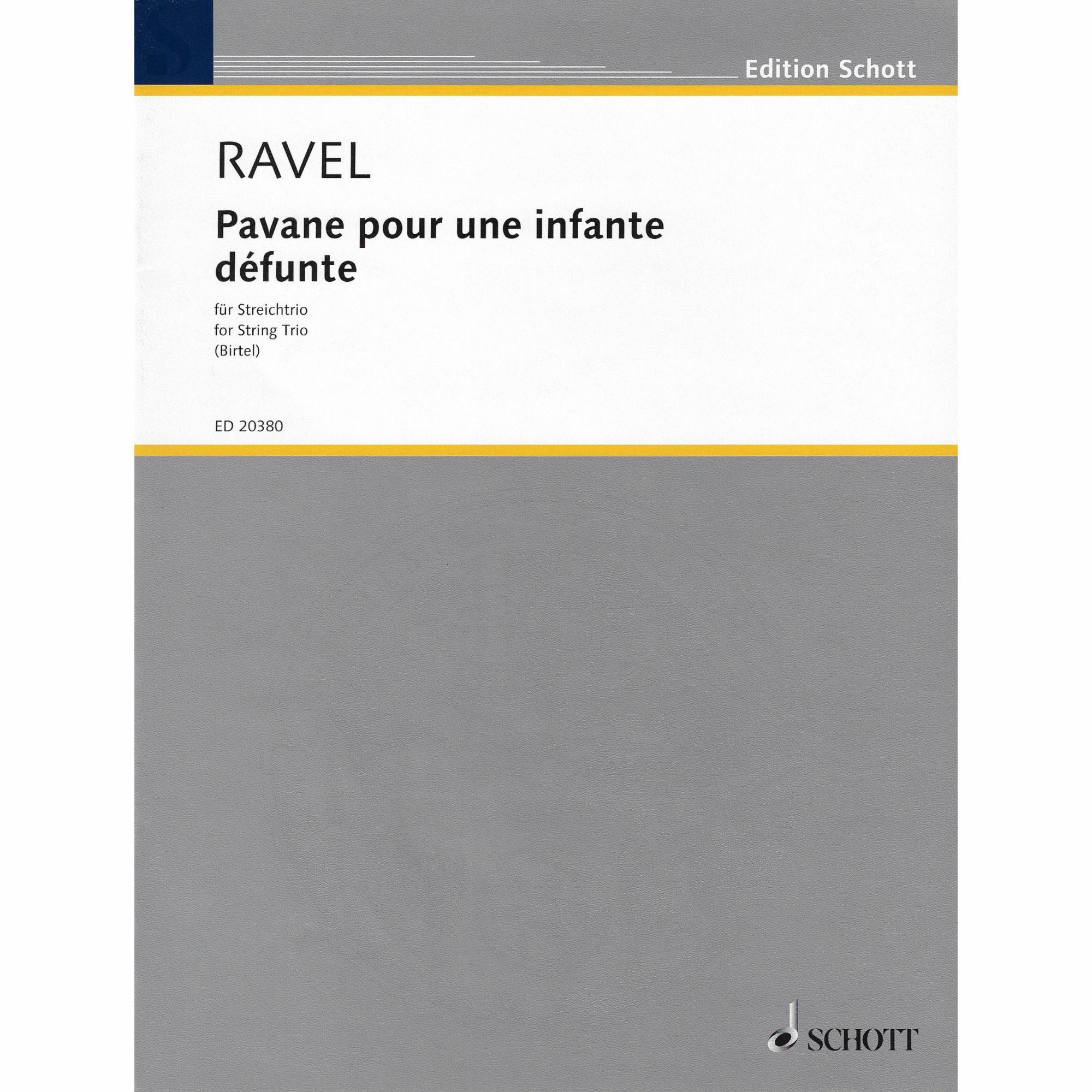 Pavane pour une infante defunte for String Trio