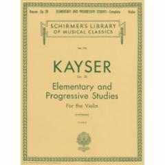 36 Elementary and Progressive Studies, Op. 20 for Violin