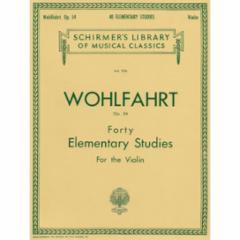 40 Elementary Studies for the Violin, Op.54