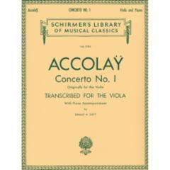 Concerto No.1 (Originally for the Violin) Transcribed for the Viola