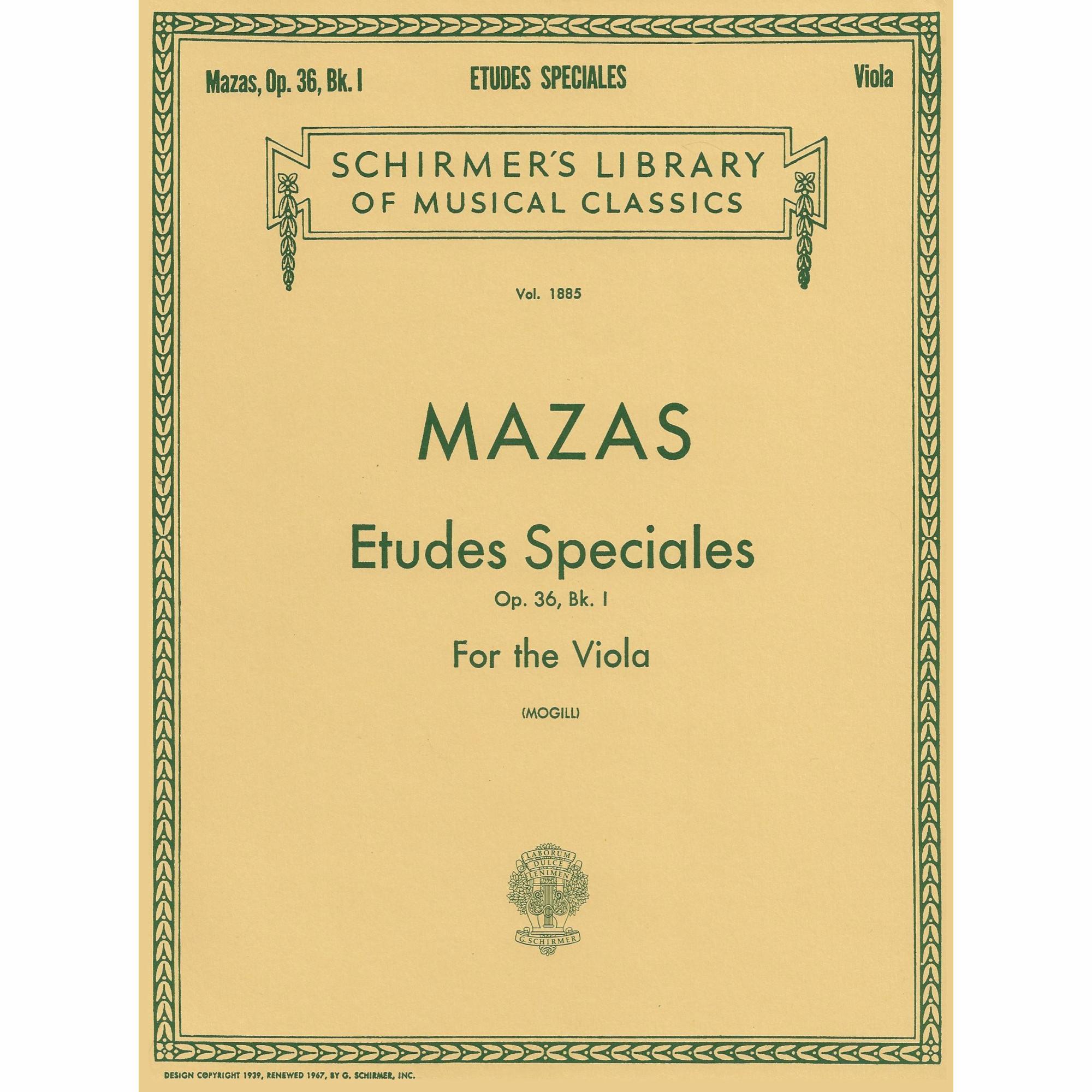 Etudes Speciales, Op. 36 for Viola