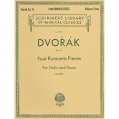 Four Romantic Pieces, Op. 75 for Violin