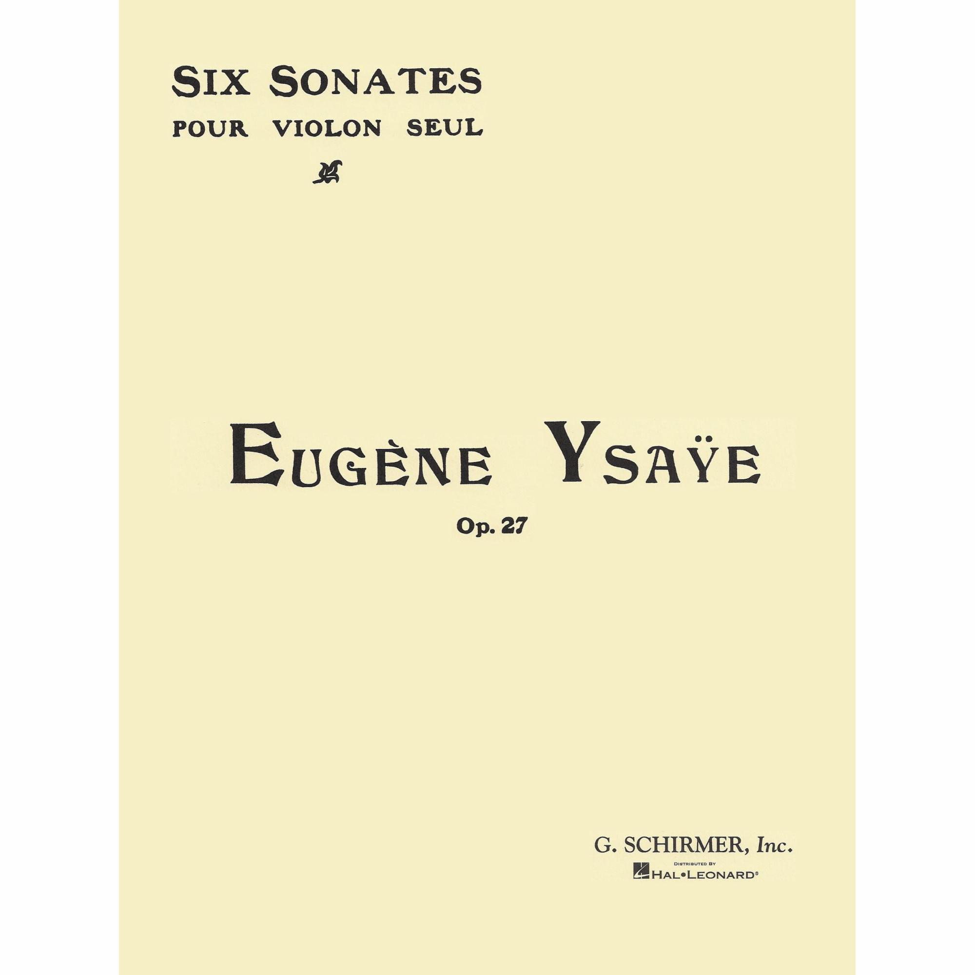 Six Sonatas, Op. 27