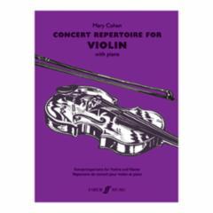 Concert Repertoire for Violin