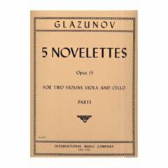 Five Novelettes, Op. 15 for String Quartet