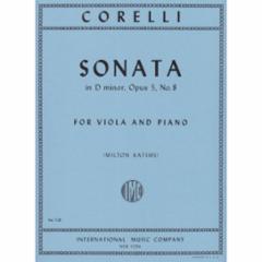 Sonata in D Minor, Op. 5, No. 8 for Viola