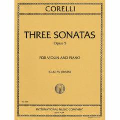 Three Sonatas, Op. 5 for Violin and Piano