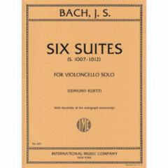 Six (Cello) Suites for Violoncello Solo: (Kurtz Edition)
