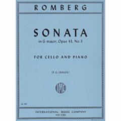 Sonata in G Major, Op. 43, No. 3 for Cello