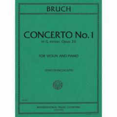 Concerto No.1 in G Minor, Op. 26 for Violin