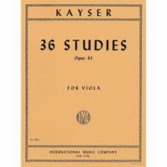 36 Studies, Op. 43 for Viola