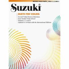 Duets for Violins: Second Violin Parts to Suzuki Violin School Books 1, 2 and 3