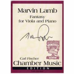 Fantasy for Viola and Piano - Marvin Lamb